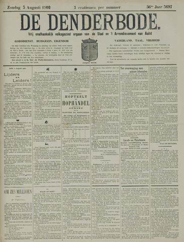 De Denderbode 1902-08-03