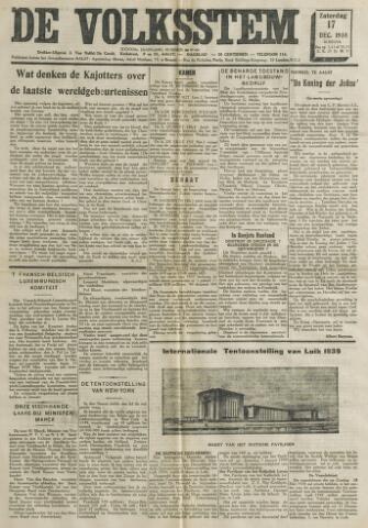 De Volksstem 1938-12-17