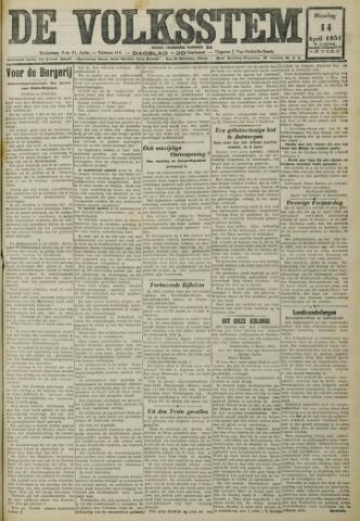 De Volksstem 1931-04-14