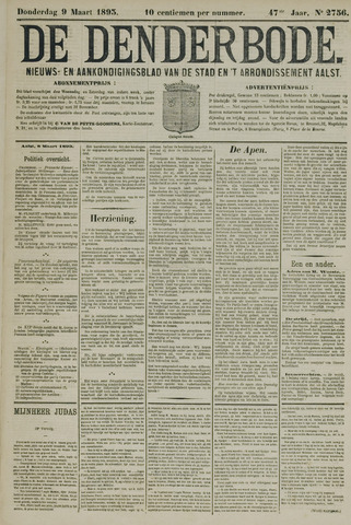 De Denderbode 1893-03-09