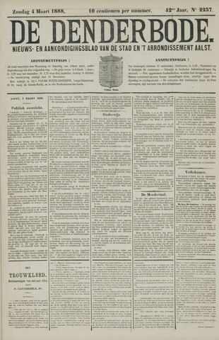 De Denderbode 1888-03-04