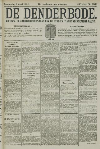 De Denderbode 1891-06-04