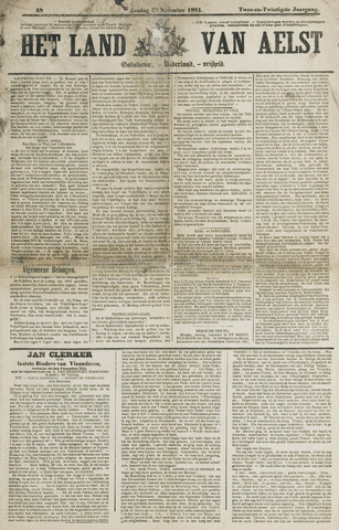 Het Land van Aelst 1881-11-27