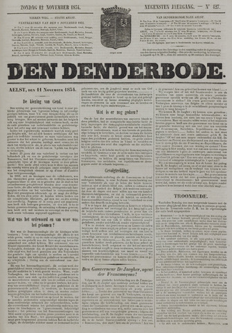 De Denderbode 1854-11-12