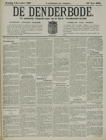 De Denderbode 1907-12-01