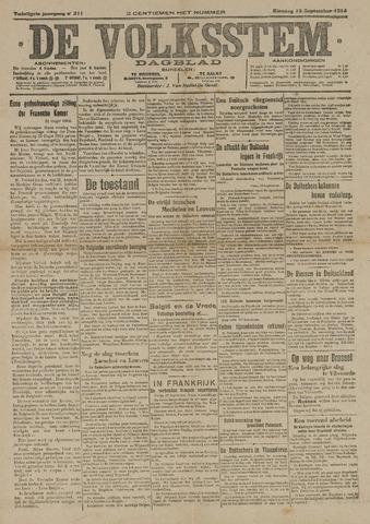 De Volksstem 1914-09-15