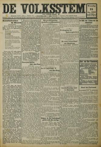 De Volksstem 1930-01-15