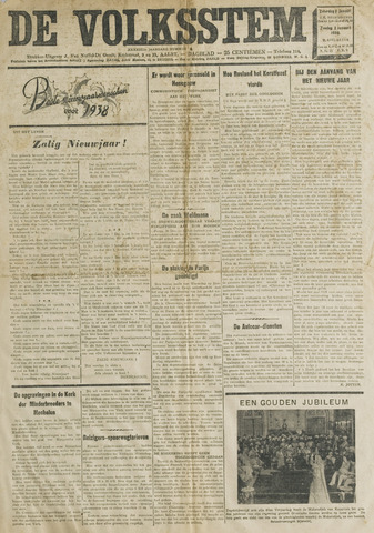 De Volksstem 1938-01-01