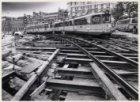 Opgebroken tramrails op het Muntplein