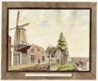 De Amstel gezien naar de Hogesluis met links de Binnen Tuchthuismolen 'De Eendra…
