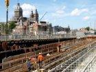 Bouwput voor de bouw van nieuwbouwwoningen en kantoren aan de Oosterdokskade  ge…