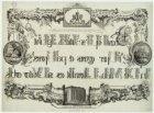 Gedenkprent met afbeelding van het Maagdenhuis, Spui 21 en de tekst van psalm 40…