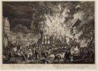Brand van d'Admiraliteits oude Lijnbanen, en bijstaande Gebouwen op Oostenburg, …