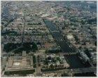Luchtfoto van het Frederiksplein en omgeving gezien in noordelijke richting