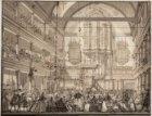 Paniek op 18 februari 1756 in de Oude Lutherse Kerk, Singel 411, nadat er een aa…