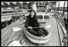 Het goedkoopste en het duurste schip op de HISWA 1981 in de RAI op het Europaple…