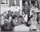 Hedy d'Ancona (sociologe, politica en feministe) bij de opening van stichting De…