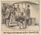 De sigarenkoopman op het Amstelveld. Uit: Geïllustreed Politienieuws, 29 novembe…