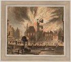 Brand van het oude Stadhuis te Amsterdam