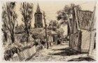 Kerklaan, Zunderdorp in het verkort gezien in oostelijke richting