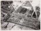 Luchtfoto van het Stadionplein en omgeving gezien in noordoostelijke richting