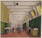 Het interieur van het magazijn van het Binnengasthuis aan de Grimburgwal