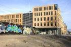 Exterieur van het Stadsdeelhuis Oost-Watergraafsmeer, Oranje-Vrijstaatplein 2, g…