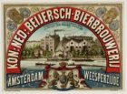 Reclameplaat tevens erediploma van de Koninklijke Nederlandsche Beijersch-Bierbr…