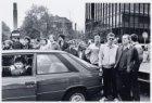 Blokkade van de Wibautstraat uit protest tegen de kruisraketten