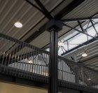 Detail van de kapconstructie van de expositieruimte in het Centrum voor Beeldend…
