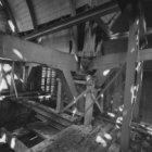Zeedijk 2, de Sint Olofskapel, interieur na de brand van 1 juni 1966