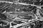 Luchtfoto van Weesterpoortstation en omgeving