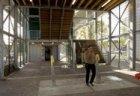 Renovatie metrostation Kraaiennest. Tijdelijke nieuwe ingang naar het perron