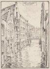 Inkijk in Beulingsloot vanaf Herengracht. Amsterdam