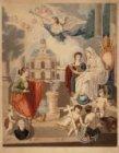 Een zinneprent op de kerk Geloof, Hoop en Liefde (Heilige Catharinakerk), Singel…