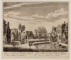 Gezigt op Half-weg Haarlem ziende naar 't Gemeen Landshuis