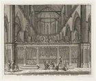 Het koperen-hek voor 't choor der nieuwe kerke