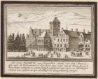 Het oude stadhuis van Amsterdam ziende van den Nieuwendijk naer de Kalverstraet …
