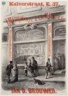 Kalverstraat 69, boekhandel Jan D. Brouwer, ca. 1870 verhuisd naar Kalverstraat …
