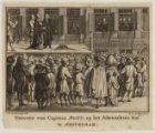 Executie van Capitein Bont, op het Admiraaliteits Hof te Amsteldam