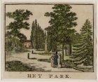Gezicht in het Park bij de Plantage Parklaan, het tegenwoordige Wertheimpark