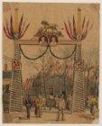 Ontwerp voor versiering van de brug op het Kattenburgerplein voor het huwelijk v…