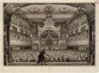 Het interieur van de schouwburg, Keizersgracht 384, tijdens het bezoek van Wille…