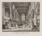 De Oude Waalen-Kerk, Van binnen, naar 't Westen, te zien