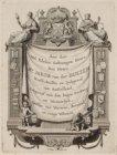 Boek opgedragen aan de heer Mr. Jacob van der Dussen. Techniek: gravure