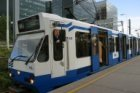 Sneltram lijn 51 naar Amstelveen Westwijk op station Amsterdam Zuid