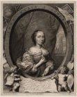 Portret van dichteres en schilderes Anna Maria Schuurman (1607-1678)