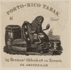 Vignet van tabakshandel Herman Oldenkott en Zoonen met het wapen van Amsterdam, …