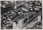 Luchtfoto van de Wibautstraat (onderaan) en omgeving gezien in noordwestelijke r…