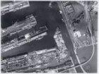 Luchtfoto in noordelijke richting van het Oostelijk Havengebied